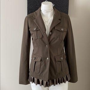 Tinley Road Army Green Ruffle Jacket